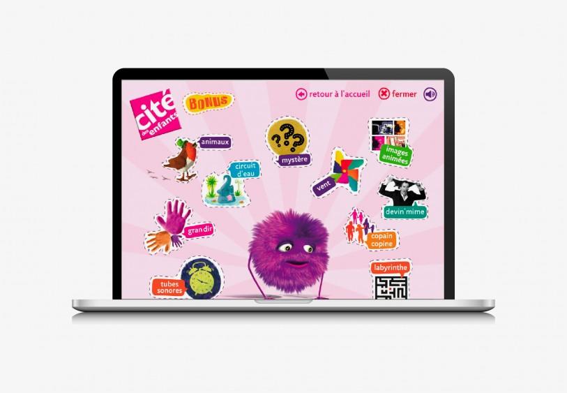 Site web Home pour le site web de la cité des enfants, Cité des Sciences et de l'Industrie