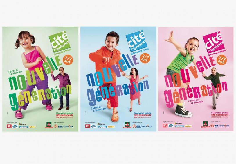 Campagne shooting cité des sciences et de l'industrie cité des enfants direction artistique